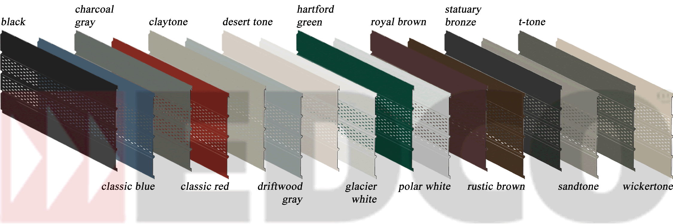 edco center vented soffit color swatches