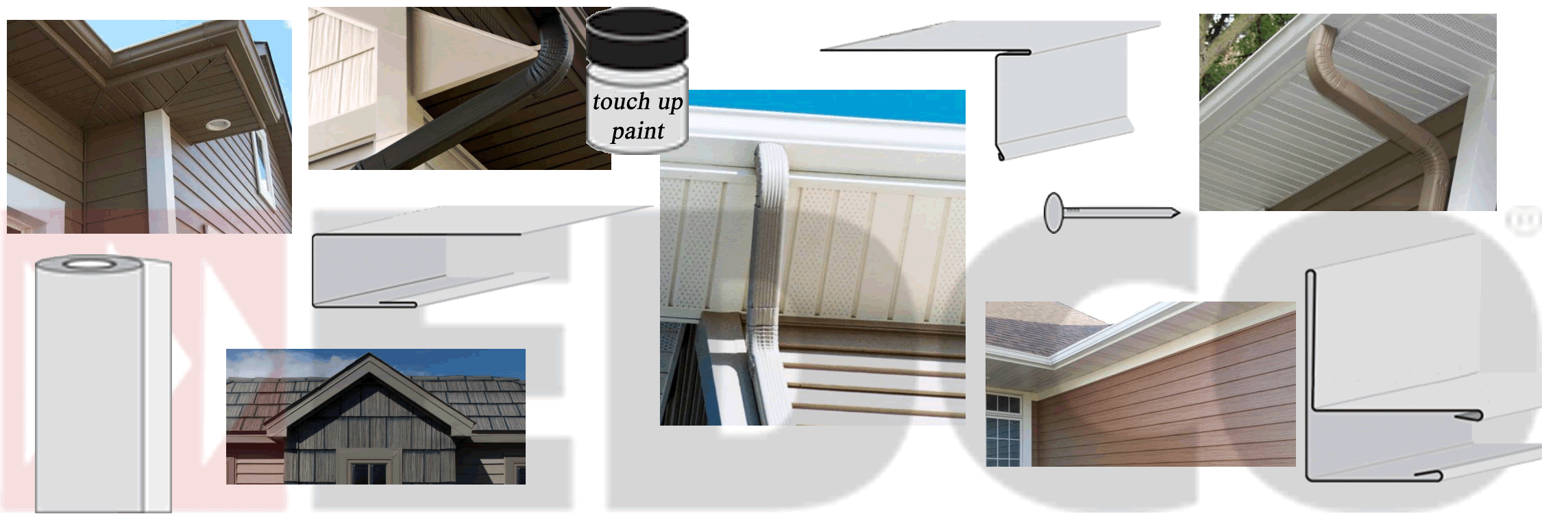 edco fascia and soffit examples with accessories profiles