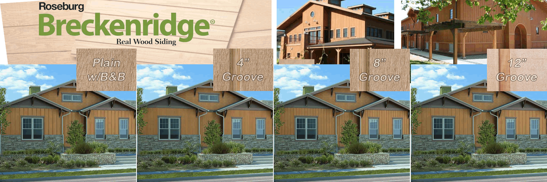 example images of roseburg breckenrigde plywood siding