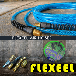 flexEEL logo and backgournd of product