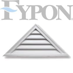 white fypon triangle louver