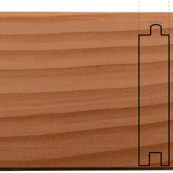 cvg doug fir flooring face and profile