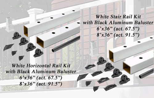 select horizontal and stair rail kit image of parts